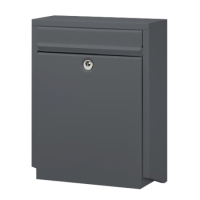 DAD Decayeux D100 Series Post Box Anthracite Grey