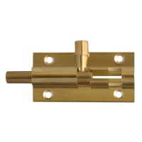 ASEC VITAL Brass 25mm Wide Straight Barrel Bolt 50mm