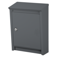 DAD Decayeux D110 Series Post Box Anthracite Grey
