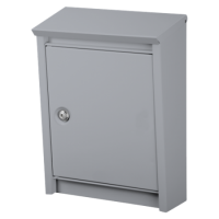 DAD Decayeux D110 Series Post Box Silver Grey