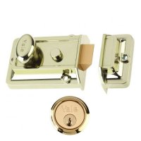 YALE 77 & 706 Non-Deadlocking Traditional Nightlatch 60mm BLUX with PB Cylinder Visi