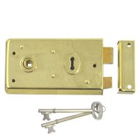 ASEC 1 Lever Double Handed Rimlock - 140mm Brass (discontinued by Mfr.)