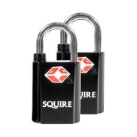 SQUIRE TSA Open Shackle Padlock Twin Pack - 20mm (discontinued by Mfr.)