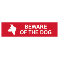 ASEC `Beware of The Dog` Sign 200mm x 50mm 200mm x 50mm