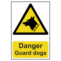 ASEC `Danger: Guard Dogs` Sign 200mm x 300mm 200mm x 300mm
