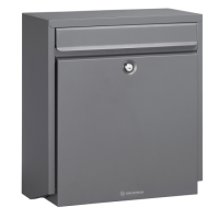 DAD Decayeux D180 Series Post Box Anthracite Grey