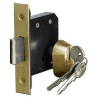 ASEC BS3621 Double Euro Mortice Deadlock 64mm PB KD Boxed