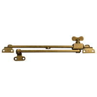 STEEL WINDOW FITTINGS B59 OG Slide Stay Butterfly 300mm x 240mm Antique Brass