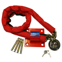 BULLDOG MC30 Chain, Padlock & Wall/Floor Anchor Kit 1500mm Chain, 70mm MC10 Padlock & MC25 Wall/Floor Anchor