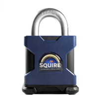 SQUIRE Stronghold Open Shackle Padlock Body Only To Take Scandinavian Oval Insert 65mm Slot