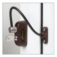 JACKLOC Lockable Cable Window Lock Brown