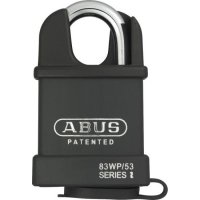 ABUS 83WP Series Weatherproof Steel Closed Shackle Padlock 56.5mm KD 83WPCS/53 Visi
