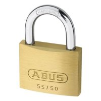 ABUS 55 Series Brass Open Shackle Padlock 48mm KD 55/50 Visi