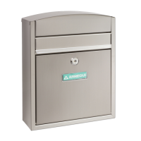 ARREGUI Compact Mailbox Satin Stainless Steel