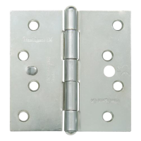 GRIDLOCK Fixed Pin Wide Butt Hinges Square - ZP