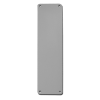 DORTREND 75mm Wide Rounded Aluminium Finger Plate 305mm PA
