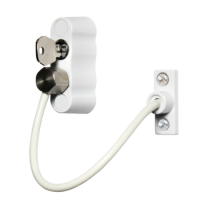 CARDEA Premium 200mm Locking Window Restrictor White (discontinued by Mfr.)
