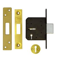 ASEC 3 Lever Deadlock 64mm PB KD Bagged
