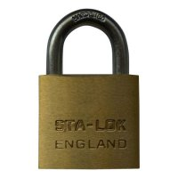 B&G STA-LOCK C Series Brass Open Shackle Padlock - Steel Shackle 38mm KD - C150