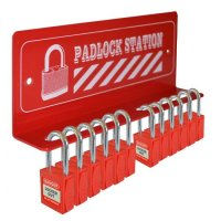 ASEC 12 Padlock Mini Lockout Tagout Station 12 Lock