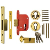 ERA 233 Fortress BS Euro Keyless Egress Key & Turn Deadlock With Cylinder 64mm PB KD Boxed