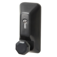 EXIDOR 709EC Knob Operated Outside Access Device Black
