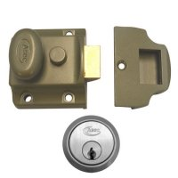 ASEC Traditional Non-Deadlocking Nightlatch 40mm GRN with SC Cylinder Boxed