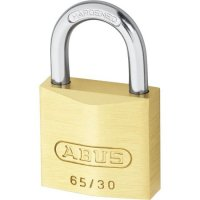 ABUS 65 Series Brass Open Shackle Padlock 30mm Twin Pack 65/30 Visi