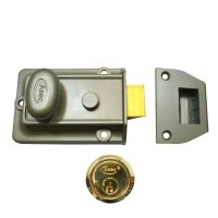 ASEC Traditional Non-Deadlocking Nightlatch 60mm GRN with PB Cylinder Visi