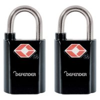 DEFENDER TSA Travel Sentry Padlock - Key Locking 20mm KA Twin Pack