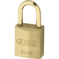 ABUS 65 Series Brass Open Shackle Padlock 16mm KD 65/15 Visi (discontinued by Mfr.)