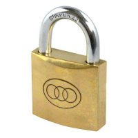 Tricircle 26 Series Brass Open Shackle Padlocks 38mm KD Boxed