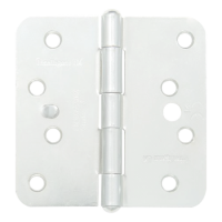 GRIDLOCK Fixed Pin Wide Butt Hinges Radius - WH