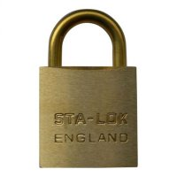 B&G STA-LOCK C Series Brass Open Shackle Padlock - Brass Shackle 38mm KD - C150BS