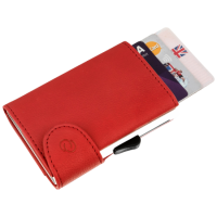 BEE-SECURE C-Secure Leather RFID Flip Up Wallet Red Leather