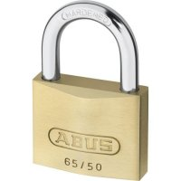 ABUS 65 Series Brass Open Shackle Padlock 50mm Twin Pack 65/50 Visi