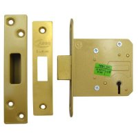 ASEC 5 Lever Deadlock 76mm PB KD (Boxed)