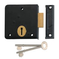 UNION 1139 3 Lever Rim Deadlock 102mm BLK LH