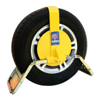 BULLDOG QD Series Wheel Clamp To Suit Caravans & Trailers QD22 Suits Tyres 165mm Width 330mm Rim Diameter