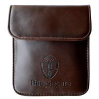 BEE-SECURE RFID Key Pouch - PU Leather Brown PU Leather