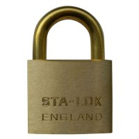B&G STA-LOCK C Series Brass Open Shackle Padlock - Brass Shackle 51mm KD - C250BS