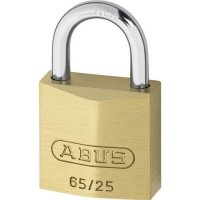 ABUS 65 Series Brass Open Shackle Padlock 25mm KA (6254) 65/25 Boxed