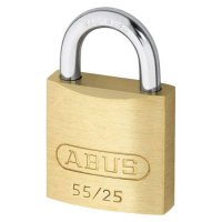 ABUS 55 Series Brass Open Shackle Padlock 24mm KD 55/25 Visi