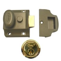 ASEC Traditional Non-Deadlocking Nightlatch 40mm GRN with PB Cylinder Boxed