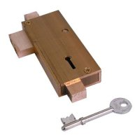 Union 21077 5 Lever APG Glass Door Deadlock SB Single Unit (KA in sets of 4)