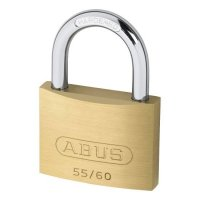 ABUS 55 Series Brass Open Shackle Padlock 58mm KD 55/60 Visi