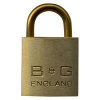 B&G Warded Brass Open Shackle Padlock - Brass Shackle 32mm KD - D101B