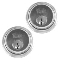 YALE 1122 Screw-In Cylinder SC KD Pair Boxed