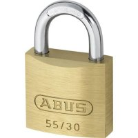 ABUS 55 Series Brass Open Shackle Padlock 29mm KA (5301) 55/30 Boxed