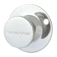 Banham R102 Security Bolt Turn Knob 40mm CP